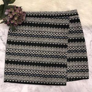 Ann Taylor Loft Aztec Print Faux Wrap Skirt. 12